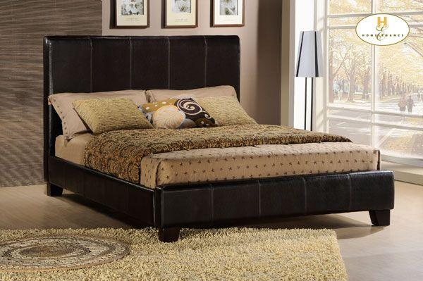 New leather Beds, Qn $299, King $399 brown only