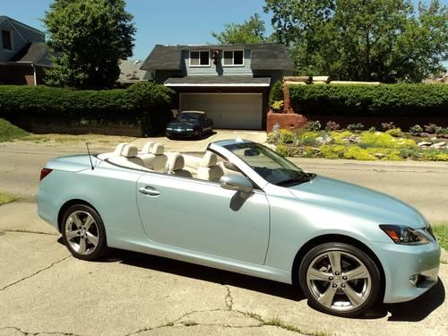 new lexus is250c hard top convertible cerulean blue. Black Bedroom Furniture Sets. Home Design Ideas