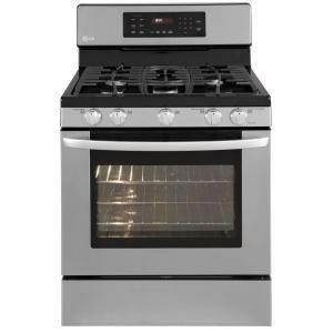 New lg lrg3093st gas range with 5 cooktop burners self clean start for sale in las vegas - Clean gas range keep looking new ...