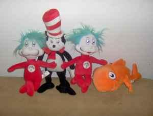 NEW LINE OF CAT IN THE HAT STUFFED TOYS - $25
