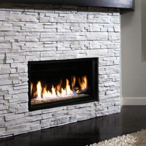 NEW LINEAR GAS FIREPLACE Modern Design 36 Widescreen View
