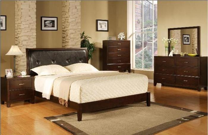 New Low Profile Queen Leather Headboard Bedroom Set Denver For Sale In Denver Colorado