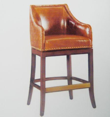 New Manchester Leather Swivel Bar Stools 2 For Sale In