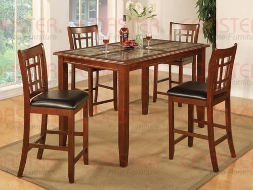 New Marble Top Pub Table W 4 Side Chairs Cute For Sale