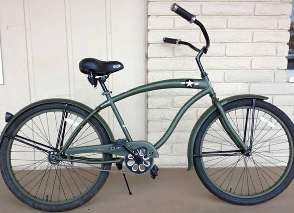 New Mens 26 BEACH CRUISER BIKE SALE -All Flat color  - $185