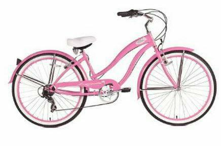 NEW MICARGI ROVER 7 SPEED BEACH CRUISER BIKE PINK 26
