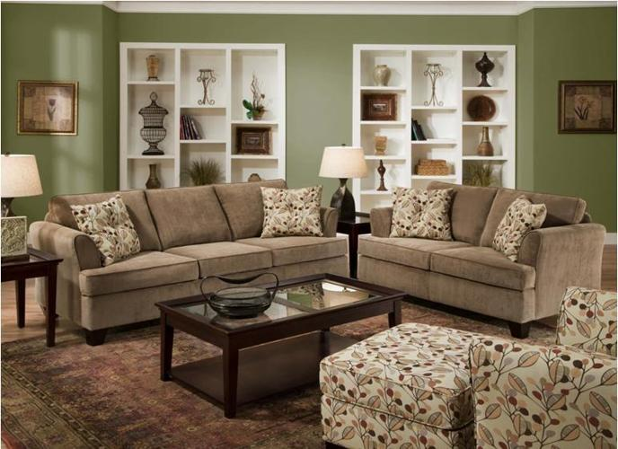 New Microfiber Living Room Set With Floral Print Throw
