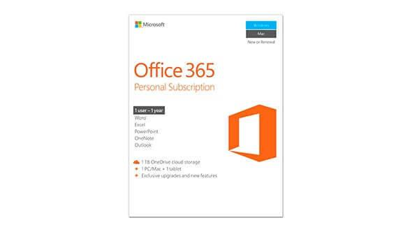 New Microsoft Office 365 Personal - 1 Year License