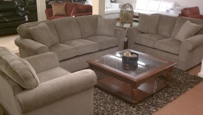 New Mink Chenille Rolled Arm Sofa One Left Brenner 39 S Furniture Liquidation For Sale