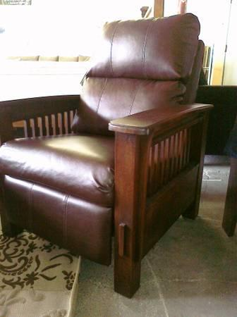 New Mission Style Leather Recliner New For Sale In Fort