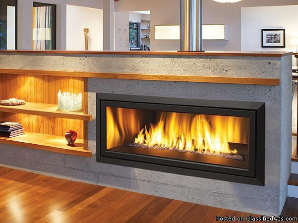 New Modern Linear 42 Gas Fireplace Regency Hz40e Wide