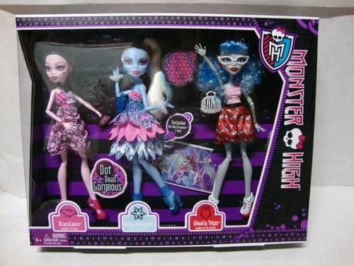 New Monster High Dolls Dot Dead Gorgeous 3 Pack Exclusive