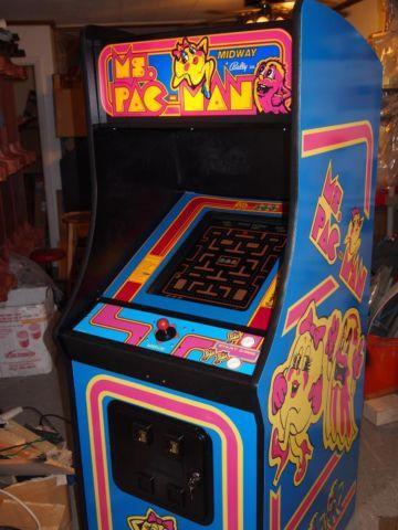 New Ms Pacman Upright Arcade Cabinet With Galaga Donkey
