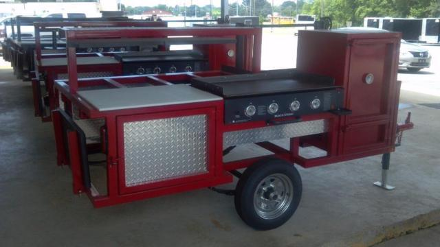 New outdoor bbq smoker grill cooking trailers for sale in for Outdoor kitchen bbq for sale