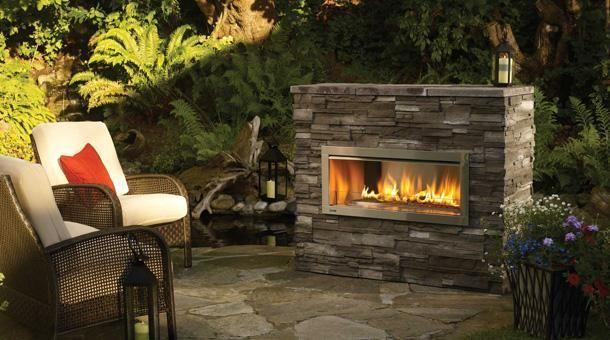 New Outdoor Gas Fireplace Modern Linear Design Ventfree Free Install For Sale In Cedar Falls