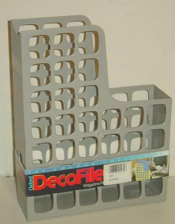 New Oxford DecoFile Magazine File  Hard Plastic File