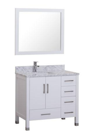 New Palmera 36 Bathroom Vanity In Espresso Or In White For Sale In