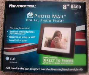 New Pandigital 8 Digital Photo Frame Photo Email Pan8008dw