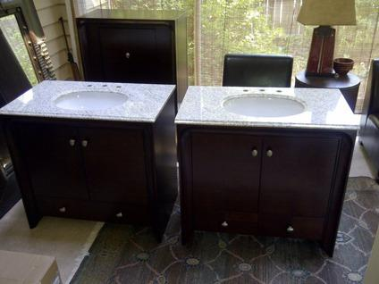 New Pegasus 7 Piece Expresso Bathroom Set