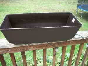 New Plastic Black Rectangle Planter Box Joppa For Sale In