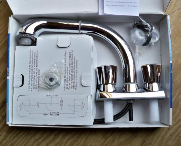 NEW Plumbing Supply Glacier Bay Laundry Sink Pull-out