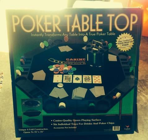 New poker table top - still in box - $25