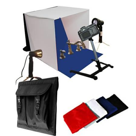 new portable mini photo studio tent lighting kit great for small items for sale in fruitport. Black Bedroom Furniture Sets. Home Design Ideas