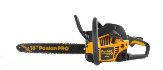 New Poulan Pro 18 Chainsaw, 42cc. wCase.