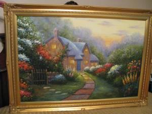 New Price Exquisite Framed Painting Of English