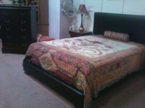 New queen king bedroom suite kc interiors singing river for Queen bedroom suite for sale