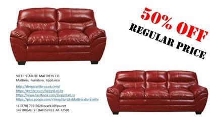 NEW Red Sofa and Loveseat Set
