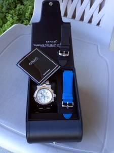 NEW RENATO T-REX 50mm CHRONOGRAPH LTD EDITION DIAMOND PAVE WATCH TRADE - $450 TULSA