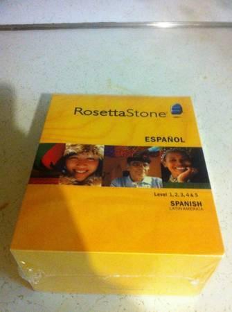 New, Rosetta Stone Spanish Latin America - Levels 1-5 with Headset