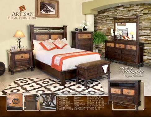 bedroom set is a new spin on rustic southwest bedroom furniture