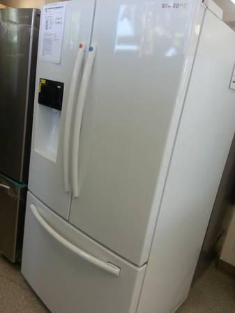 SAMSUNG WHITE FRENCH DOOR 26 CU REFRIGERATOR