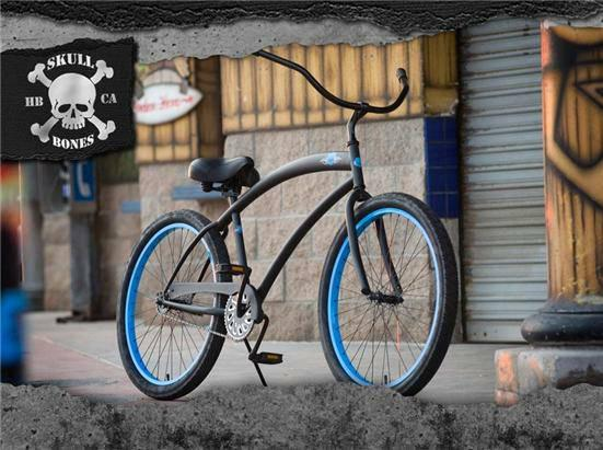 New Skullxbones Mens 26 single speed BEACH CRUISER BIKE SALE