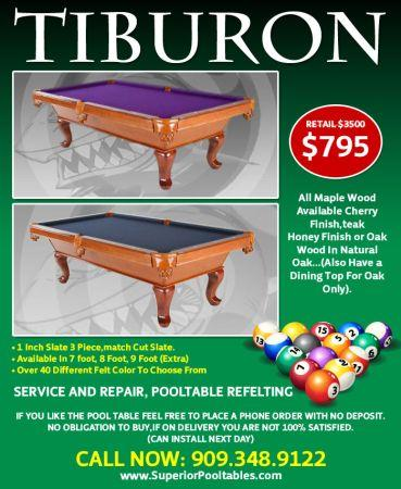 Amf Slate Pool Table For Sale In California Classifieds Buy And - Tiburon pool table