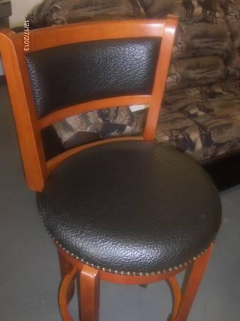 NEW swivel bar stools with paddes seats and backs ON SALE $396 FOR 4 - $99