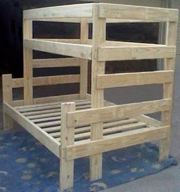New Twin Over Twin Bunk Bed W Twin Trundle Solid Wood For