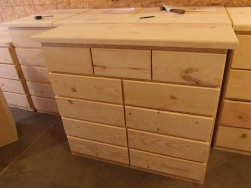 New Unfinished Solid Pine Dressers 9 Or 11 Drawer