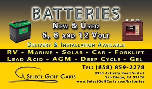 NEW & USED 6, 8 AND 12 VOLT GOLF CART BATTERIES BATTERY for Sale in Us Battery Volt Golf Cart Html on