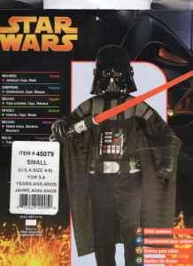 NewUsed STAR WARS Costumes - Sm, Med, Lg - $1 Council Bluffs
