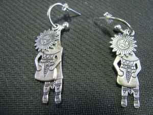NEW Very Unique, Sterling Silver Aztec Design Three