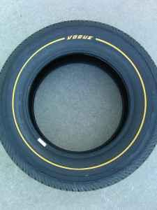 New Vogue Gold Stripe Tires 235/60R16 - $110 (Firth)