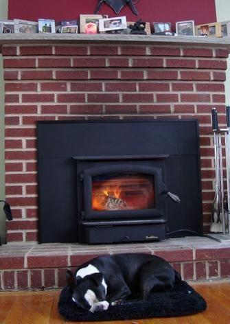 NEW WOOD STOVE FIREPLACE INSERT with Blower Installation
