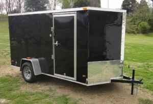 New 2012 Enclosed 6x12 V Nose Cargo Trailer With Rear Ramp