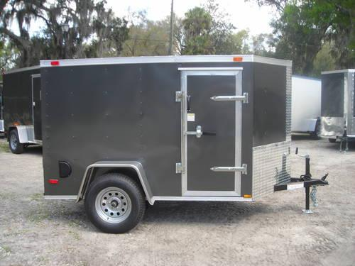 new enclosed cargo trailer 5x8 ramp v nose side door for