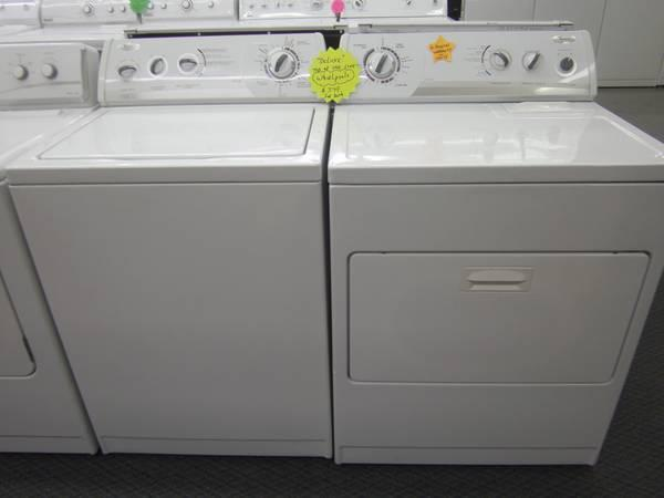 NEWER Whirlpool Washer and Dryer 6 MONTH WARRANTY - $499