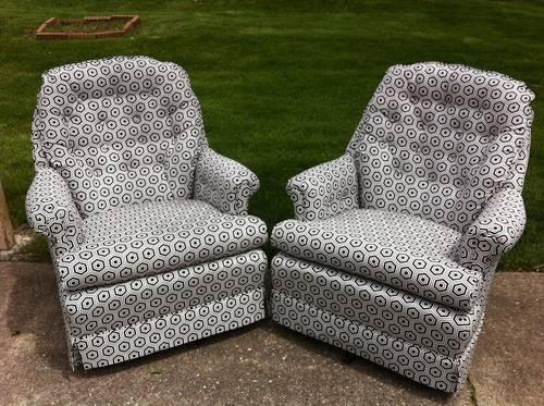 Newly ReUpholstered Vintage/Modern Swivel Rocker Chair