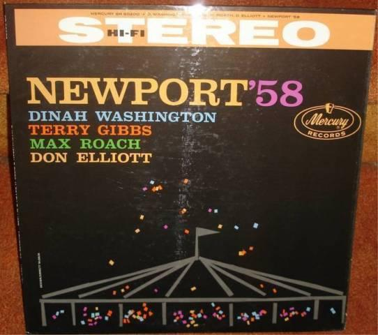 NEWPORT '58 - JAZZ LP - DINAH WASHINGTON, MAX ROACH -